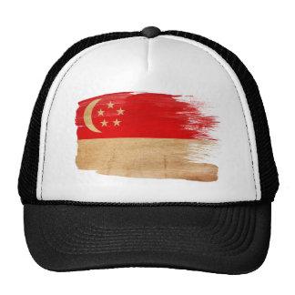 Gorra del camionero de la bandera de Singapur
