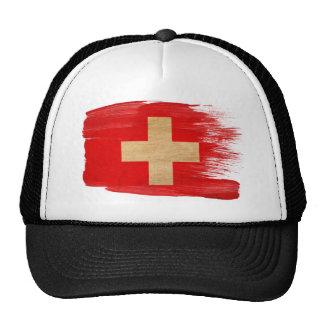 Gorra del camionero de la bandera de Suiza