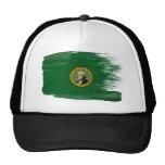 Gorra del camionero de la bandera de Washington