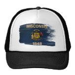 Gorra del camionero de la bandera de Wisconsin