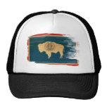 Gorra del camionero de la bandera de Wyoming