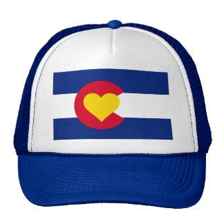 Gorra del camionero de la bandera del corazón de