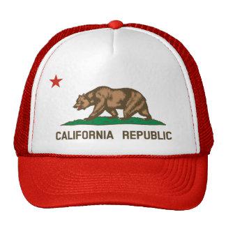 Gorra del camionero de la bandera del estado de Ca