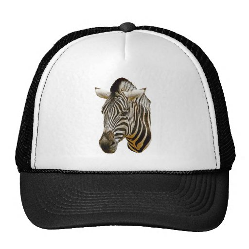 Gorra del camionero de la cebra