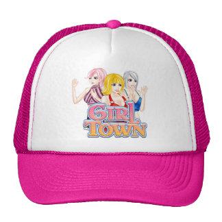 Gorra del camionero de la ciudad del chica