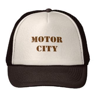 Gorra del camionero de la ciudad del motor