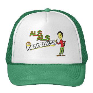 Gorra del camionero de la conciencia del ALS