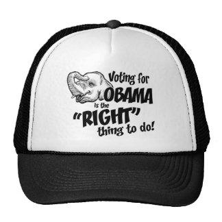 Gorra del camionero de la cosa correcta de Obama d