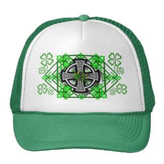 Gorra del camionero de la cruz céltica y del