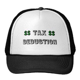 Gorra del camionero de la deducción fiscal