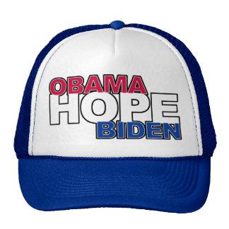 Gorra del camionero de la esperanza de Obama Biden