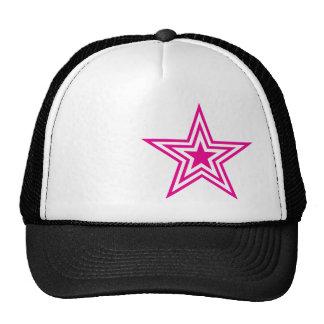 Gorra del camionero de la estrella del rosa de Pau