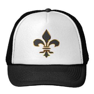 Gorra del camionero de la flor de lis