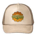 Gorra del camionero de la flor del vegano