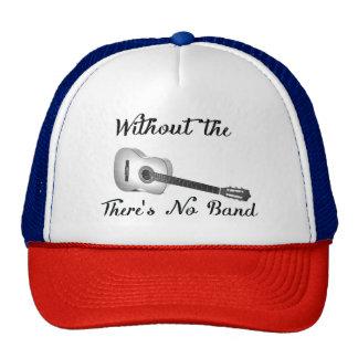 Gorra del camionero de la guitarra acústica