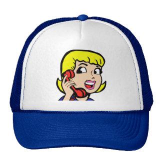 Gorra del camionero de la historieta del chica de