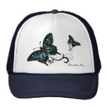 Gorra del camionero de la mariposa