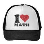 Gorra del camionero de la matemáticas del amor del