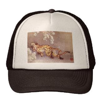 """Gorra del camionero de la nieve de Hokusai """"tigre"""