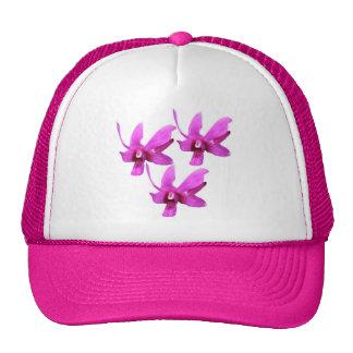 Gorra del camionero de la orquídea