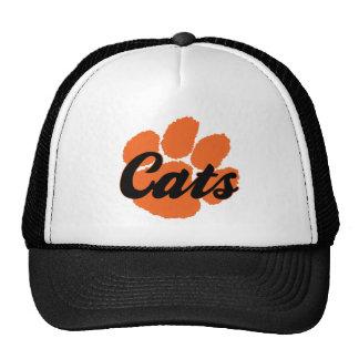 Gorra del camionero de la pata de los gatos de