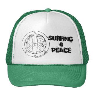 Gorra del camionero de la paz que practica surf 4