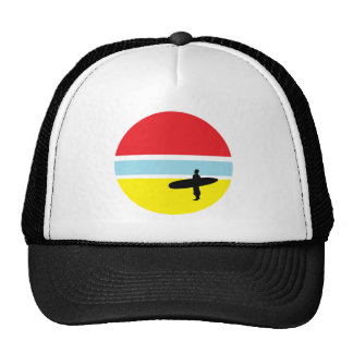 Gorra del camionero de la persona que practica