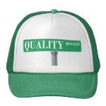 Gorra del camionero de la placa de calle del camin