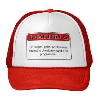 Gorra del camionero de la precaución