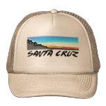 Gorra del camionero de la puesta del sol de Santa