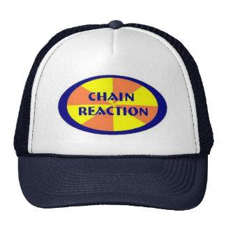 Gorra del camionero de la reacción en cadena