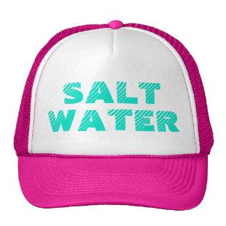 Gorra del camionero de la sirena del agua salada