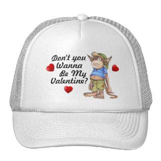 Gorra del camionero de la tarjeta del día de San V