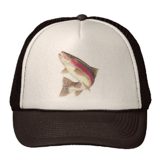 Gorra del camionero de la trucha arco iris