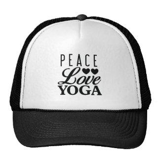 Gorra del camionero de la yoga del amor de la paz