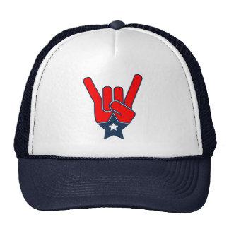 Gorra del camionero de las rocas de los E.E.U.U.