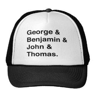 Gorra del camionero de los fundadores