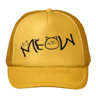 gorra del camionero de los gatos del maullido