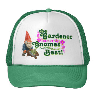¡Gorra del camionero de los gnomos del jardinero Gorro De Camionero