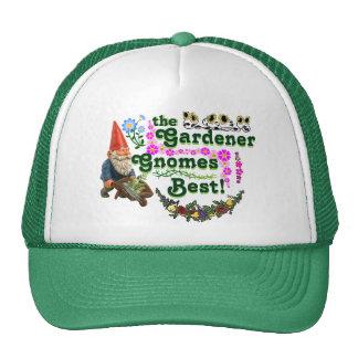 ¡Gorra del camionero de los gnomos del jardinero Gorros Bordados