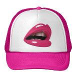 Gorra del camionero de los labios de las rosas fue