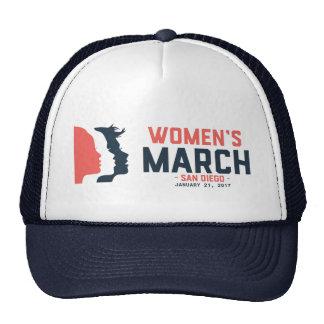 Gorra del camionero de marzo de las mujeres de San