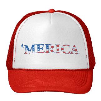 Gorra del camionero de Merica con la bandera de lo