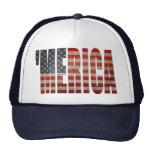 Gorra del camionero de MERICA de la bandera de los