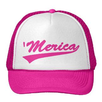 'Gorra del camionero de Merica Swoosh (rosa) Gorros
