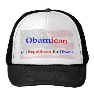 Gorra del camionero de Obamican