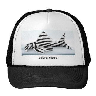 Gorra del camionero de Pleco de la cebra