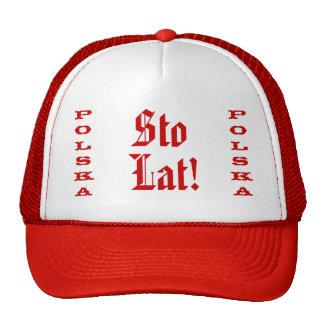 Gorra del camionero de Polska del lat de Sto
