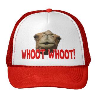 Gorra del camionero de Whoot Whoot del camello del