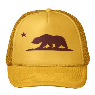 Gorra del camionero del amarillo de la bandera de